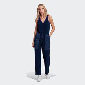 Adidas collegiate fleece jumpsuit with side pocket
